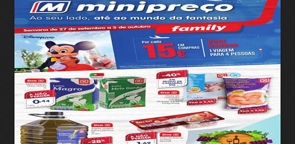 Folheto do Minipreço com as promoções e descontos válido de 27 de Setembro a 3 de Outubro de 2018 – Folhetos e descontos